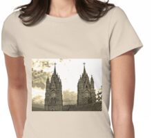 The Best View In Quito V Womens Fitted T-Shirt