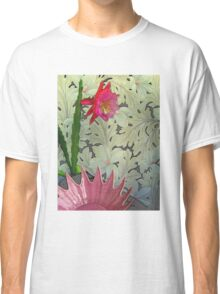Cactus With Pink Spiked Bowl, Texturized Classic T-Shirt
