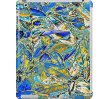 Blue and Yellow Fallen Leaves iPad Case/Skin