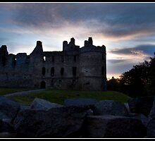 Balvenie castle at sunset by Shaun Whiteman