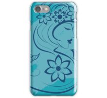 Floral Girl iPhone Case/Skin