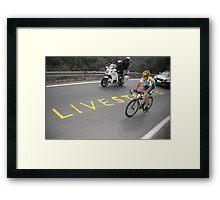 LANCE ARMSTRONG - LIVESTRONG Framed Print
