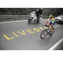 LANCE ARMSTRONG - LIVESTRONG Photographic Print