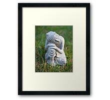 Buddha in the grass Framed Print