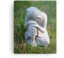 Buddha in the grass Metal Print