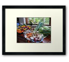 A Country Harvest. Framed Print