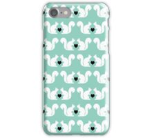 Squirrels pattern print designs minimal mint dots pastel pattern cell phone gift ideas nature iPhone Case/Skin