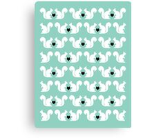 Squirrels pattern print designs minimal mint dots pastel pattern cell phone gift ideas nature Canvas Print