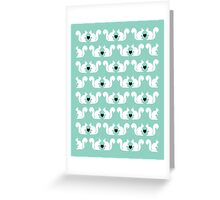Squirrels pattern print designs minimal mint dots pastel pattern cell phone gift ideas nature Greeting Card