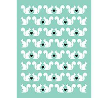 Squirrels pattern print designs minimal mint dots pastel pattern cell phone gift ideas nature Photographic Print