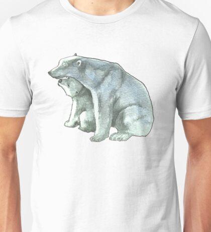 Polar Bear Mother and Cub Unisex T-Shirt