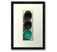 Traffic Light - Green Framed Print
