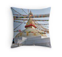 Stupa Stroll Throw Pillow