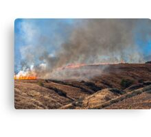 Yucaipa Fire, Crafton Hills, Fact of Life, 042715 Canvas Print