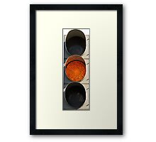 Traffic Light - Yellow Framed Print