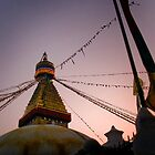 Dusk's Stupa Lightshow by Rene Edde