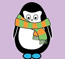 Hugo wearing a scarf by danicorbett