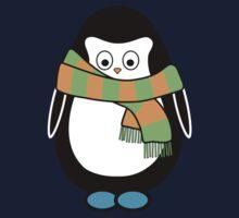 Hugo wearing a scarf Kids Tee