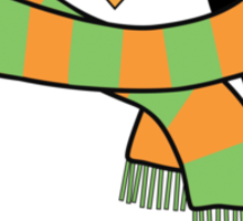 Hugo wearing a scarf Sticker