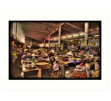 The Indoor Market at Guinea Conakry Art Print