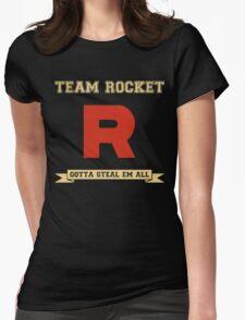 Team Rocket Pokemon Womens Fitted T-Shirt