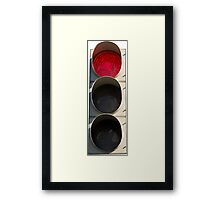 Traffic Light - Red Framed Print