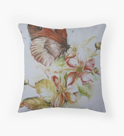 Small brown Throw Pillow