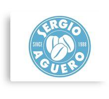 Sergio Aguero Manchester City parody logo Canvas Print