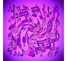 Ultra Violet Purple Pink Passion Music Notes Photographic Print