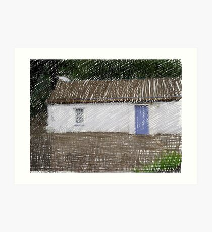 Donegal Cottage Art Print