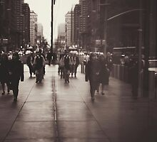 Rush hour, NYC by Tony Eccles