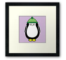 Hugo rocking a beanie Framed Print