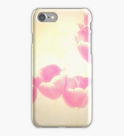 Hazy Pink Tulips iPhone Case/Skin