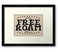 Free to Roam. Framed Print