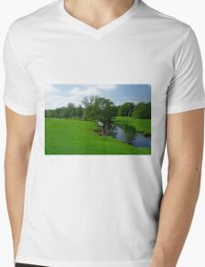 Riverside Meadows, Ashford-in-the-Water  Mens V-Neck T-Shirt