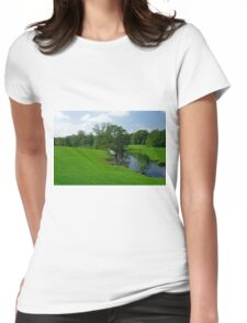 Riverside Meadows, Ashford-in-the-Water  Womens Fitted T-Shirt