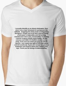 Copy Pasta - Attack Helicopter Mens V-Neck T-Shirt
