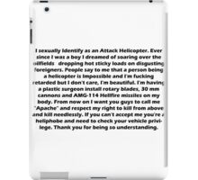 Copy Pasta - Attack Helicopter iPad Case/Skin