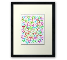 Colourful HeArts  - JUSTART © Framed Print