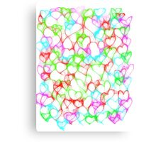 Colourful HeArts  - JUSTART © Canvas Print
