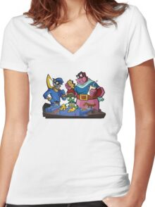 Sly Cooper and the Gang Women's Fitted V-Neck T-Shirt