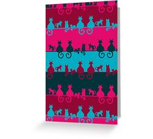 Bright Cats Greeting Card
