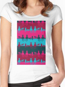 Bright Cats Women's Fitted Scoop T-Shirt