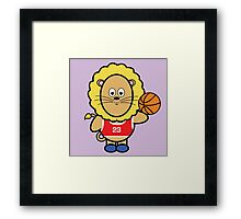 Victor playing basketball Framed Print