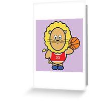 Victor playing basketball Greeting Card