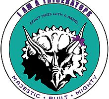 I am A Triceratops - Purple and Teal MBM by swilmer