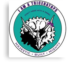 I am A Triceratops - Purple and Teal MBM Canvas Print