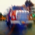Tanker Truck Double Exposure by Nazareth