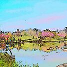 Japanese-American Garden by Deborah Dillehay