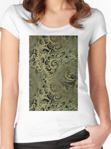Vintage pattern Women's Fitted Scoop T-Shirt